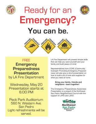 Peck Park Emergency Preparedness event.