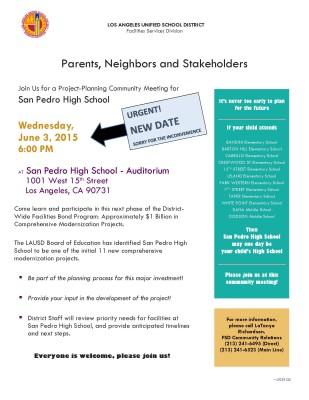 SPHS modernization meeting flyer