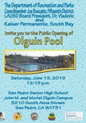 Olguin Pool Public Opening Invitation