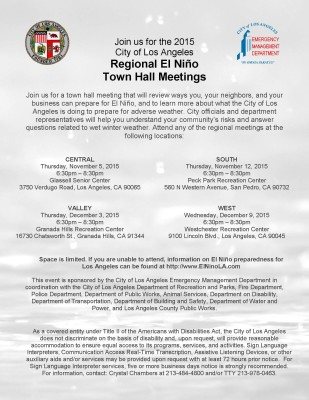 El Nino Town Hall Flyer