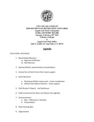 2/28 agenda
